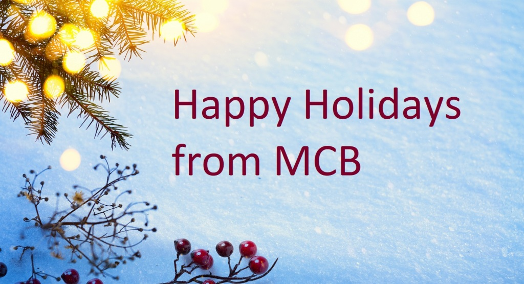 Happy holidays from MCB