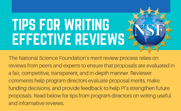 Tips for writing effective reviews infographic.