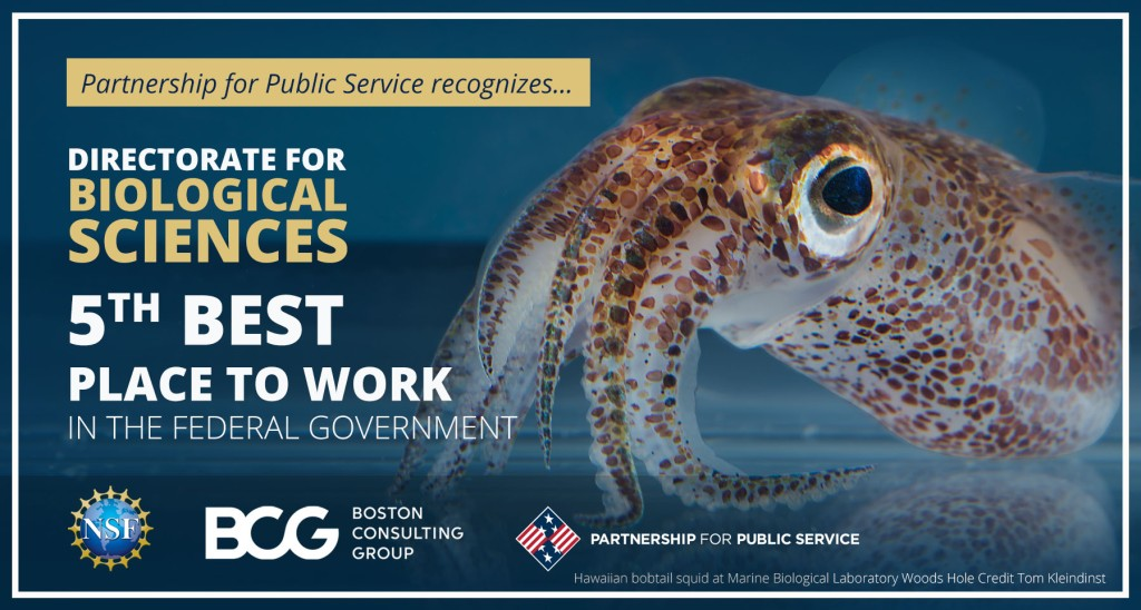 Directorate for Biological Sciences - 5th best place to work in the federal government